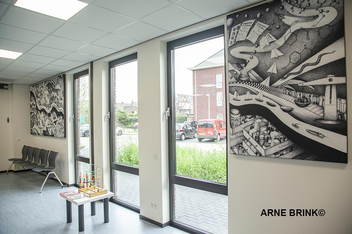 illustratie in een apotheek in Velden (Limburg)